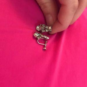Clip on earrings.
